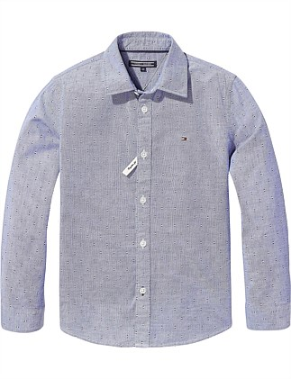 ad1c4f05 ESSENTIAL PRINTED OXFORD SHIRT L/S Special Offer On Sale. Tommy Hilfiger