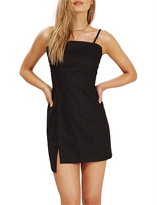 BRONTE STEP HEM MINI DRESS