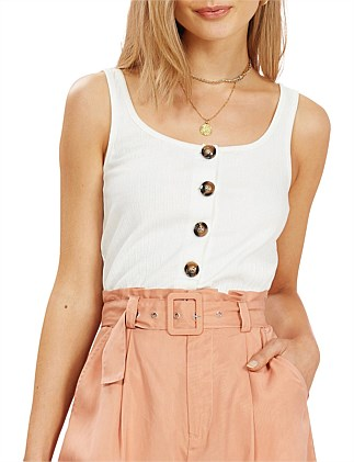 FRANKIE BUTTON UP RIB TOP