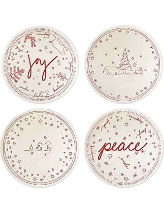 Ed Christmas Bowl 14cm Set of 4