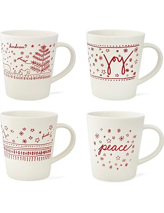 Ed Christmas Mug Set of 4