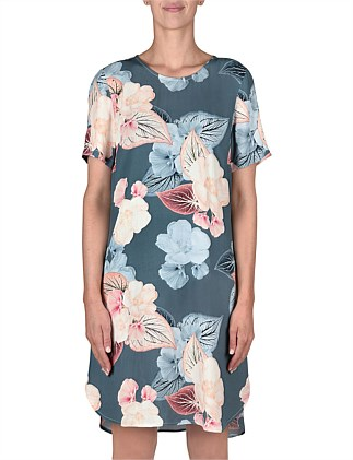 Short Sleeve Summer Floral Print Dress