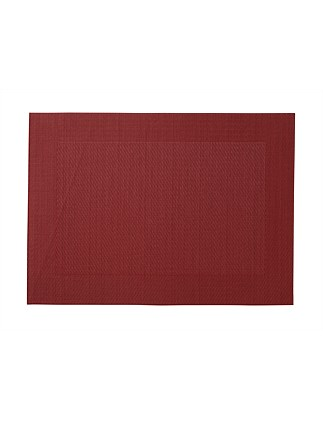 Wide Border Placemat Red