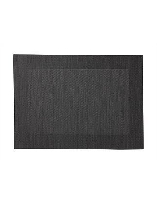 Wide Border Placemat Charcoal