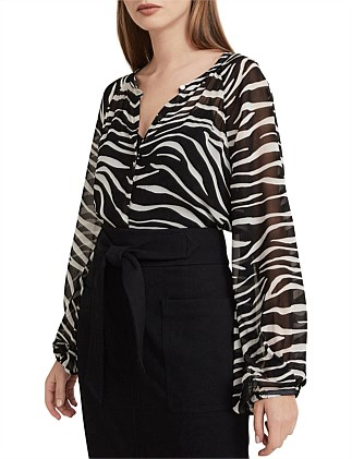 Animal Georgette Shirt