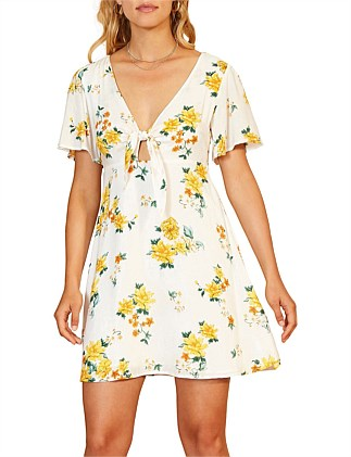 LEMON BLOOM MINI DRESS