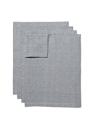 Sienna Placemat Set of 4 Grey