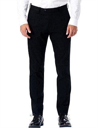Black Tailored Embossed Pant