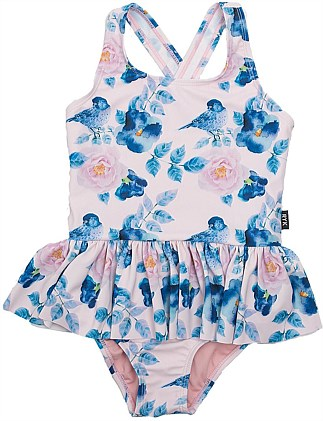 Blue Bird Skirted One Piece