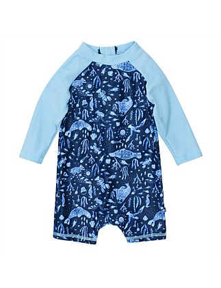 Jayce Long Sleeve Zip Sunsuit(3-24Months)