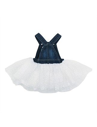 Holland Denim Overall Dress With Tulle(3-24Months)