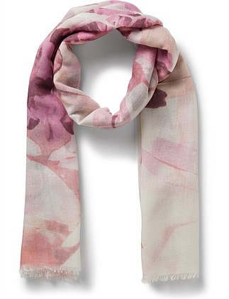 FADED FLORAL SCARF