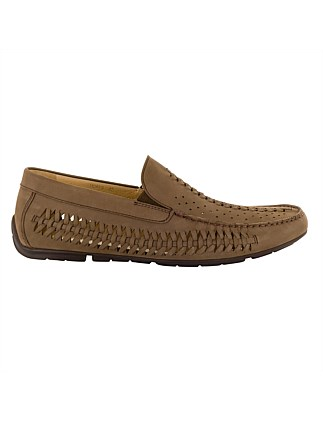 COOPER WOVEN FRONT MOCCASIN