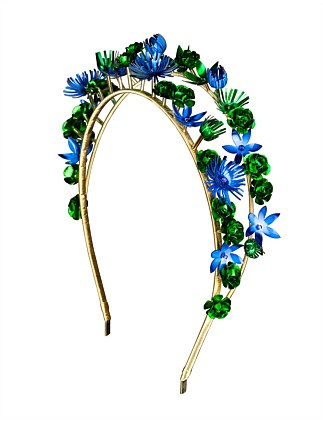 double band floral crown