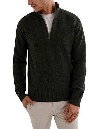 Lambswool Half Zip Knit