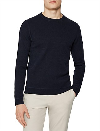Dakota Ls Honeycombstitch Crewneck