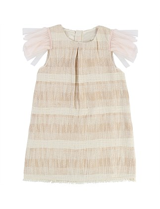 Frill Sleeve Ceremonie Unique Dress(4-12Years)