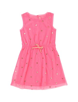 Party Fuschia Dress(3-8Years)