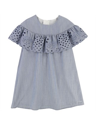 Spring Denim Frill Dress(4-8Years)