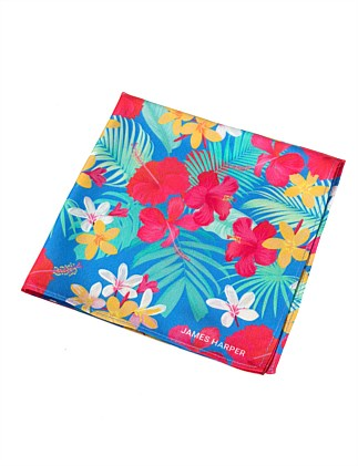 PRINTED TROPICAL POCKET SQUARE 30X30
