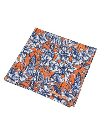 PRINTED FLORAL POCKET SQUARE