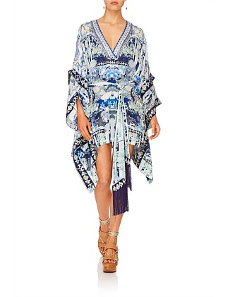 Cloud Dancer Double Layer Kimono Sleeve Dress