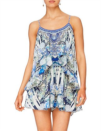 Cloud Dancer Shoe String strap Playsuit