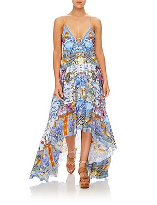GEISHA GATEWAYS HIGH-LOW U-RING DRESS