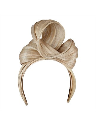 Poly hemp large knot turban on headband