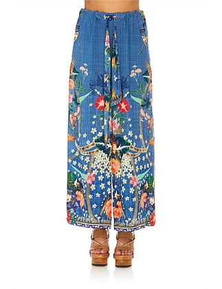 FARAWAY FLORALS LOUNGE TROUSER W/TIE FRONT