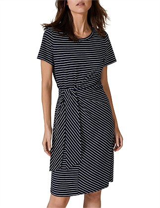 Tie Side T-Shirt Dress