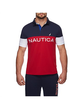 NAUTICA TEC LOGO COLOR BLOCKED POLO