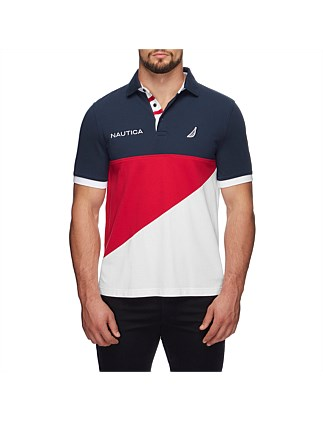 NAUTICA SIGNAL BLOCKED POLO