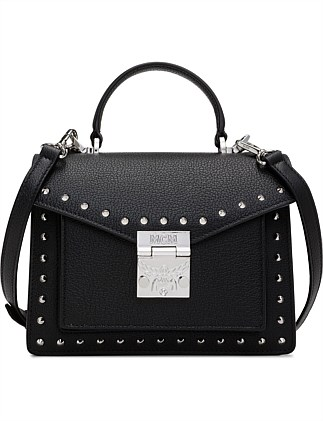PATRICIA STUDDED OUTLINE PARK AVENUE SATCHEL SMALL