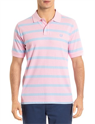 EASTON OXFORD STRIPE POLO