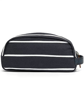Organic Stripe Wash Bag