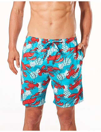 HAWAIIAN CRAYS PRINTED WOVEN SLEEP SHORT