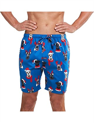 HUM BUG DOGS PRINTED WOVEN SLEEP SHORT