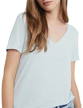 Self Stripe V Tee