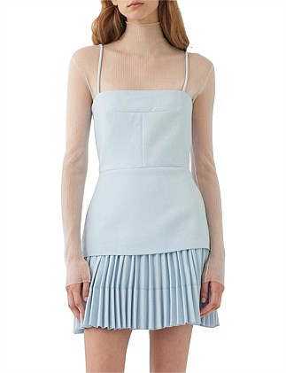 ELLIPSE PLEAT MINI DRESS