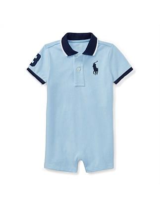 b97a8be681b8 Cotton Mesh Polo Shortall(3-12 Months) Special Offer. Polo Ralph Lauren