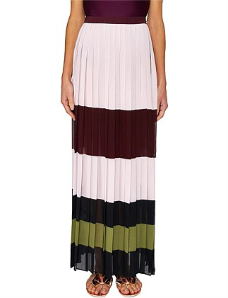 Imperial Stripe Maxi Skirt