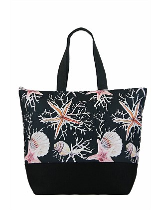 76df34fefeec CORAL PRINT TOTE On Sale
