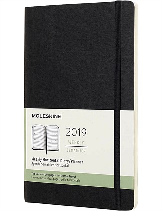 2019 Soft Cover Diary - Weekly Horizontal - Black