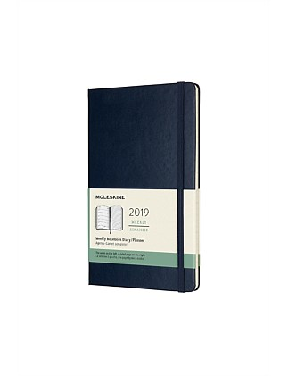 2019 Hard Cover Diary - Weekly Notebook - Sapphire Blue