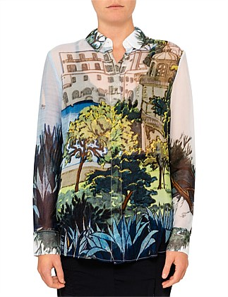 CHIKA LONG SLEEVE LANDSCAPE SHIRT