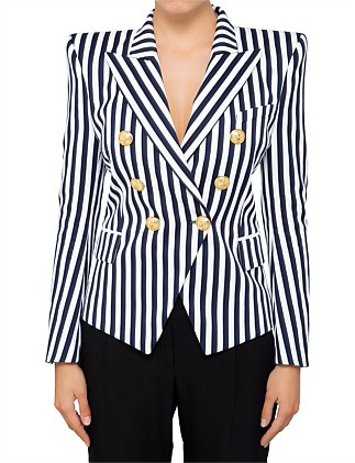 6 BUTTON STRIPED JACKET