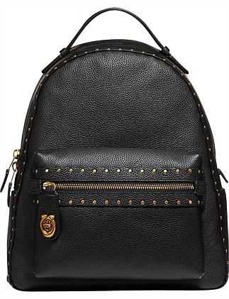 41586eb05d448 BORDER RIVETS CAMPUS BACKPACK REFRESH Special Offer DJ On Sale. Coach