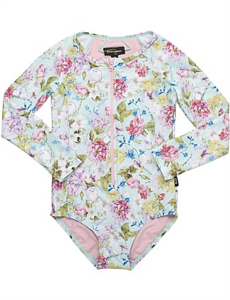 Nothing But Flowers LS One Piece (Girls 2-7 Yrs)