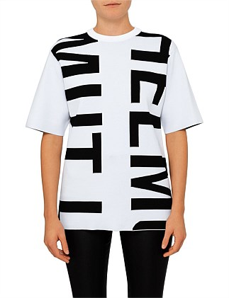 LOGO DOUBLE FACE HELMUT LANG SLEEVE LESS KNIT